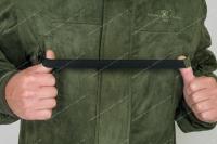 Костюм Беркут замша с мембранным покрытием (олива) - убирающийся эластичный ремень, исключающий «биение» по груди бинокля или манка