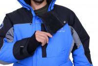 Костюм Полярник мембрана черно-голубой