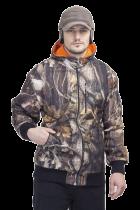 Куртка Лес-1 мембранное трикотажное полотно лес 3D (оранжевый подклад)