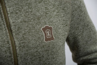 Куртка мужская Глухарь трикотаж на флисе меланж-олива
