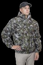 Куртка утепленная М ламинированное трикотажное пиксель зеленый