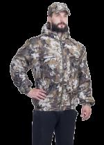 Куртка утепленная М ламинированное трикотажное полотно коричневые соты