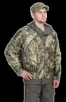 Куртка-жилет охотника Люкс-2 смесовая ткань лес 2010