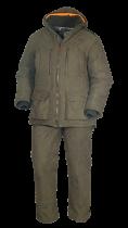 Костюм для охоты зимний иск замша хаки