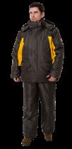 Костюм с полукомбинезоном OneRus фишер темно зеленый желтый -45 (поплавок)