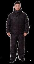 Костюм с полукомбинезоном патриот черный -45